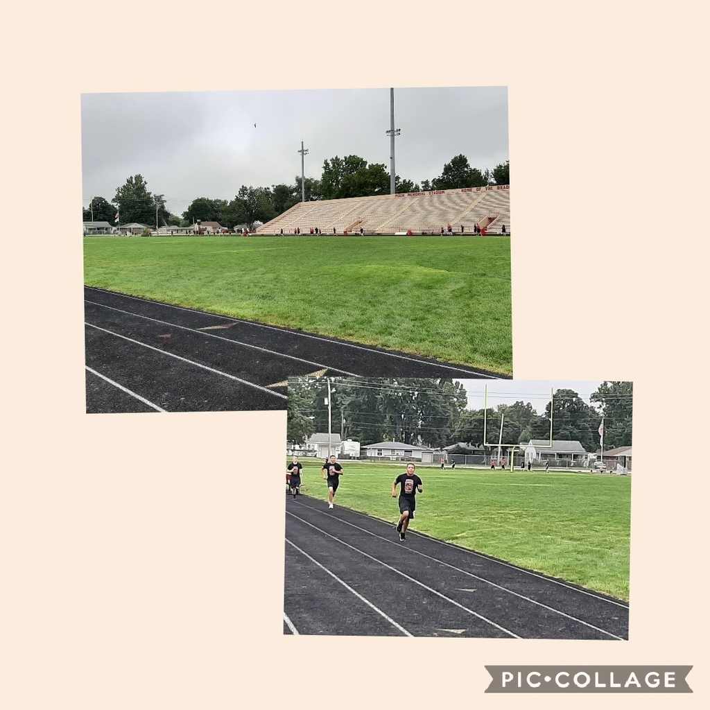 Jrotc Cadets hitting the track for the mile run