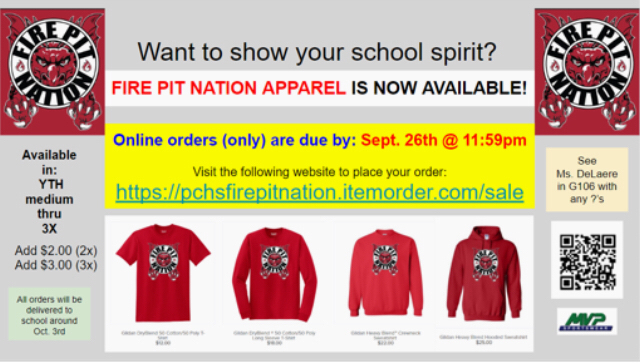 Fire Pit Nation apparel for sale thru Sept. 26th