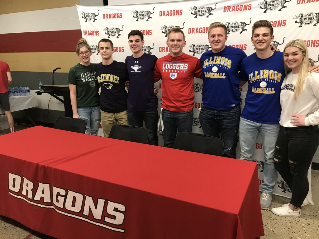 College Signing Group Pic